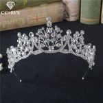 CC Tiaras And Crowns Vintage Baroque Style Queen Crown Fashion <b>Wedding</b> Hair Accessories For Bridal Engagement Fine <b>Jewelry</b> HG870