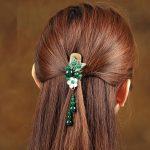 Vintage handmade Hair <b>Jewelry</b> metal Hair Claws natural stone Hair Clip For Women Girls <b>Fashion</b> <b>Jewelry</b> Accessories