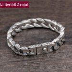 <b>Bracelet</b> 100% Real 925 Sterling <b>Silver</b> Friendship Men Jewelry 10mm Wide Vintage Bangle <b>Bracelet</b> Women Gift Fine Jewelry 2018 B18