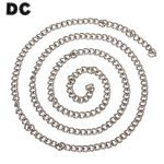 DC 1m/lot 316L Stainless Steel Curb Chain Rolo Link Chains 7x9x1.8mm Silve Color for DIY Necklace <b>Making</b> Components F2250