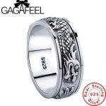 Gagafeel New 100% Real Pure 925 Sterling Silver Dragon Rotatable ring Thai Silver Fine <b>Jewelry</b> free shipping LHYR17