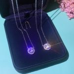Luxury 925 Sterling Silver Fashion <b>Wedding</b> Engagement <b>Jewelry</b> Top Quality Shiny Round CZ Zircon Crystal Pendant Necklace For You