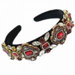 Limited Edition Baroque Crown Full Rhinestone <b>Handmade</b> Hair Bands Crystal Velvet Wide Headband Wedding Hair Accessories <b>Jewelry</b>