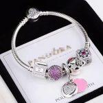hot sale 2018 Spring Flower Collection 925 <b>Sterling</b> <b>Silver</b> Beads bracelet <b>Jewelry</b> same as Pandorl brand Charms beads Bracelet