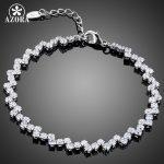 AZORA Luxurious Party <b>Jewelry</b> With 72pcs Top Grade Cubic Zirconia Tennis Bracelet TS0142