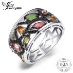 JewelryPalace Fashion 2.3ct Multicolor Genuine Tourmaline Black Spinel Cocktail Rings For Women 925 <b>Sterling</b> <b>Silver</b> Fine <b>Jewelry</b>