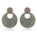 SHOWTRUE Fashion Earrings Verdigris Patina Single Earrings Elegant Round Stud Earring Ear Jewlery Indian <b>Native</b> <b>American</b> <b>Jewelry</b>