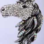 Horse brooch pin pendant for women girls crystal <b>jewelry</b> animal charm <b>antique</b> gold silver color BA17 wholesale dropshipping