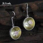 Artilady <b>handmade</b> 925 sterling silver earrings classical hollow out plum blossom earrings women <b>jewelry</b> christmas gift