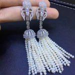 long tassels earring natural fresh water pearl drop earring 925 <b>sterling</b> <b>silver</b> with cubic zircon fashion women <b>jewelry</b> multi