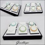 <b>Supply</b> Jewellery Store Countertop Bracelet <b>Jewelry</b> Display Tray Case Box 35*25*5cm with 6 Compartment Anklet Stand Holder Rack
