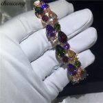 choucong Mona Lisa <b>bracelet</b> Rose Gold Filled AAAAA Zircon cz <b>Silver</b> Colors Wedding <b>bracelets</b> for women Fashion Jewerly