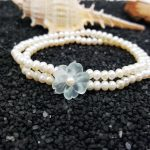 Lii Ji Natural Blue Crystal Flower ,Freshwater Pearl 925 Sterling <b>Silver</b> <b>Bracelet</b>