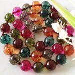 10mm Multicolored Tourmaline Chalcedony Necklace Beads Fashion <b>Jewelry</b> <b>Making</b> Design Natural Stone Christmas gifts 18″ Wholesale