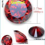MRHUANG <b>Jewelry</b> <b>Supplies</b> AAA Grade CZ Cubic Zirconia Garnet Round Zircon 2.75MM DIY <b>Jewelry</b> Findings <b>Supplies</b> Free Shipping