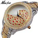 MISSFOX Miss Fox Brand Women Watches <b>Silver</b> Luxury Wrist Watches For Women Fashion Watch Women Waterproof Female Watch Clock