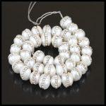 1 Strand Charm Quality <b>Jewelry</b> 9Mm Natural White Freshwater Pearl Pave Rhinestone Beads For Diy <b>Jewelry</b> Making <b>Handmade</b> Material