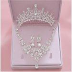 High Quality <b>Fashion</b> Crystal Wedding Bridal <b>Jewelry</b> Sets Women Bride Tiara Crowns Earring Necklace Wedding <b>Jewelry</b> Accessories