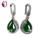Natural Green Chalcedony Natural Topaz Drop Earrings 100% 925 <b>Sterling</b> <b>Silver</b> Earrings For Women Lovely Fine <b>Jewelry</b> Gifts SE131