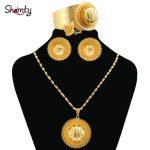 Shamty Bridal Sets Ethiopian <b>Jewelry</b> Nigeria Eritrea Kenya African <b>Jewelry</b> Habasha Wedding Set Pure Gold Color A30029/04