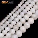 Gem-inside 6-14mm Natural Stone Beads Round Smooth Moonstone Beads For <b>Jewelry</b> <b>Making</b> Beads 15inch DIY Beads Jewellery