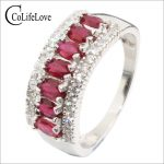 Vintage <b>silver</b> ruby ring 7 pcs natural blood red ruby <b>silver</b> ring 925 <b>sterling</b> <b>silver</b> ruby wedding <b>jewelry</b> romantic gift