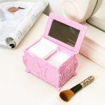 Free shipping BF050 <b>Fashion</b> double layer with mirror make up box cosmetic storage box 12.2*7.8*8.3cm