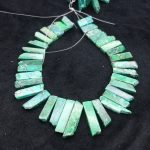 High Quality Green Gems Stone Necklace Point Pendant Beads, Top Drilled Women Fashion <b>Jewelry</b> Spike DIY <b>Making</b> Finding Gems