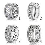 Authentic 925 Sterling Silver Ring Forget Me Not Ring Forever Shimmering Clear CZ Rose For Women Wedding fit Lady <b>Jewelry</b>