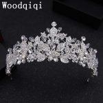Woodqiqi New Luxuious Rhinestone Bridal tiaras Crown Wedding Crystal Diadem for bride hair <b>jewelry</b> Dress Accessories