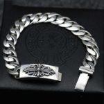 S925 <b>Sterling</b> <b>Silver</b> Cross Bracelet Korean Creative Punk <b>Jewelry</b> Men Retro Personality Simple Bracelet