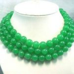 2017 New Long 12MM Natural Green chalcedony Round Beads Necklace Stone Beads Christmas gift 50inch Fashion <b>Jewelry</b> <b>Making</b> Design