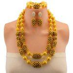Nigerian Beads <b>Wedding</b> <b>Jewelry</b> Set Bridal Dubai Gold Color <b>Jewelry</b> Sets African Beads Necklace Bracelet <b>Jewelry</b> Set