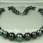 Fashion style Natural AAA 9-10mm round beads tahitian black bearl <b>making</b> hot necklace <b>making</b> 18″ MY4574