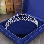 Micro Inlays Round-Cut Cubic Zirconia Heart Shape Princess Wedding Tiaras Crown CZ Brides Hairbands Coronet Coroa Hair <b>Jewelry</b>