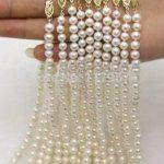 new fashion <b>jewelry</b> wholesale 5PCS 7-7.5mm seawater cultured pearl necklace Hand Made Fashion <b>Jewelry</b> <b>Making</b> Design 18″ W0055