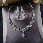 CC <b>Jewelry</b> bridal <b>jewelry</b> sets necklace pendants earring wedding party <b>accessories</b> for women crystal collier free shipping TL229
