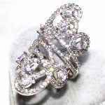 ALW The Ivy Design Pure <b>Handmade</b> Excellent Rings For Women AAA+ Zircon Party Flashing Long Ring Fashion <b>Jewelry</b> 2016 ALW1515