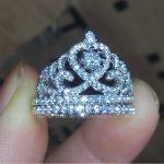choucong Brand Size 5-10 <b>Jewelry</b> AAAAA zircon cz 925 sterling silver Engagement <b>wedding</b> crown Ring set for women men