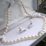 White shell pearl necklace sets 8mm necklace 18 inches earrings DIY women fashion <b>jewelry</b> <b>making</b> design wholesale