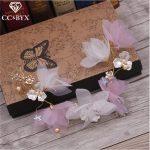 CC Haiebands Tiaras Crowns Pearl Wedding Hair Accessories For Women Party Beach Hairwear Fine <b>Jewelry</b> <b>Handmade</b> Flower Fairy 2798