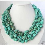 free shipping >>long 46″inch Natural Tibet Asian natural Stone Turquoises jewelry <b>Necklace</b>