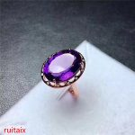 KJJEAXCMY fine <b>jewelry</b> 925 Pure <b>silver</b> inlaid with gemstone natural amethyst ring <b>jewelry</b>.aber