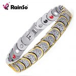 Rainso <b>Fashion</b> <b>Jewelry</b> Magnetic Health Care Elements Magnetic FIR Germanium 316L Stainless Steel Bracelets For Men OSB-768