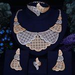 GODKI Luxury Leaf Feather Women Nigerian Wedding Naija Bride Cubic Zirconia <b>Necklace</b> Dubai 4PCS <b>Jewelry</b> Set Jewellery Addiction