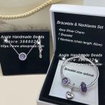 6pcs Fashion <b>Jewelry</b> Set S925 Silver Purple lavende Series CZ Dangle Charms and Bracelet Necklaces Set <b>Jewelry</b> <b>Making</b> Woman Gift