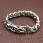 NEW! Vintage 925 <b>Silver</b> Bracelet Sterling <b>Silver</b> Lucky Symbol Link Bracelet Pure <b>Silver</b> Man Bracelet <b>Jewelry</b> Gift