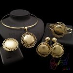 Yulaili sun flowers <b>makes</b> us comfortable in anniversary classic four <b>jewelry</b> sets for elegant ladies