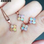 Natural Fire Opal Gemstone <b>Jewelry</b> Sets Genuine Sets Solid 925 <b>Sterling</b> <b>Silver</b> Precious stone Woman Prom