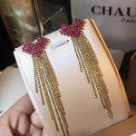 Quality Real 925 Sterling <b>Silver</b> Drop <b>Earrings</b> Hot Selling Pink Zircon Heart Lovely Long Tassel Women Dangle <b>Earrings</b>